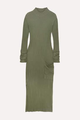 Holzweiler - Norritt Ribbed-knit Maxi Dress - Green