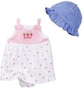 Rene Rofe Strawberry Sundress & Sunhat Set (Baby Girls)