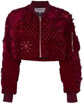 Amen embellished bomber jacket - women - Cotton/Polyester/Spandex/Elastane/Viscose - 40