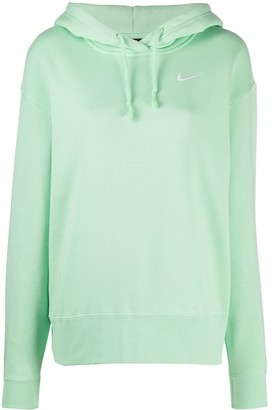 Nike Embroidered Logo Rib-Trimmed Hoodie