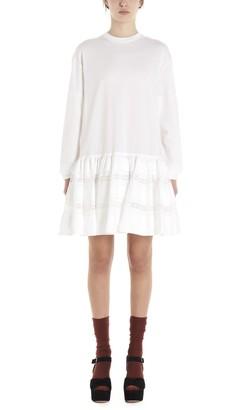 Prada Ruffled Lace Detail Dress