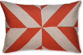 The Piper Collection Leah 16x24 Linen Pillow, Coral
