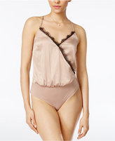 Material Girl Juniors' Lace-Trim Surplice Cami Bodysuit, Only at Macy's