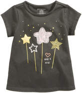 First Impressions Wands-Print T-Shirt, Baby Girls, Created for Macy's