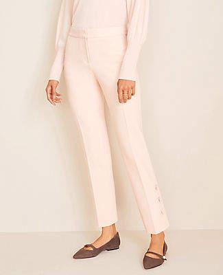 Ann Taylor The Petite Button Hem Ankle Pant - Curvy Fit