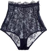 I.D. Sarrieri Chantilly Lace High-rise Briefs - Midnight blue