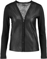 Majestic Leather and linen cardigan