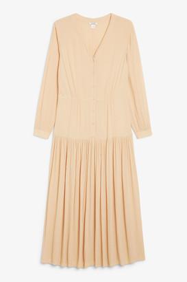 Monki V-neck prairie dress