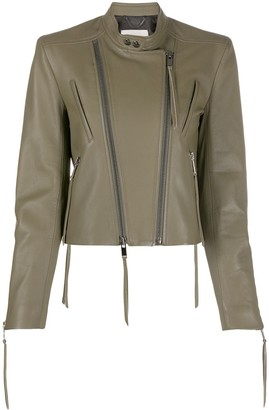 Dorothee Schumacher Fitted Double-Zipped Biker Jacket