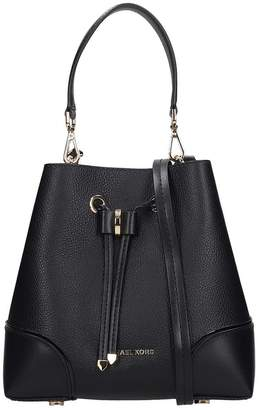 Michael Kors Hand Bag In Black Leather