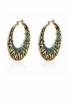 House Of Harlow Tribal Hoop Earrings in Turquoise