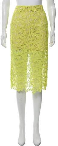 45f85e4af Yellow Lace Skirt - ShopStyle