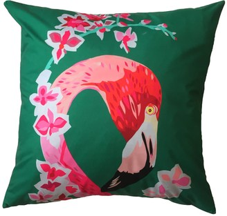 Chloe Croft London Limited Flamingos & Flowers Weatherproof Cushion