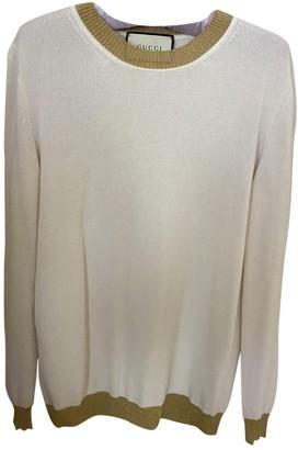 Gucci White Cashmere Knitwear