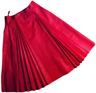 Gucci Red Leather Skirts