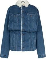 Y/Project sheepskin lined denim jacket