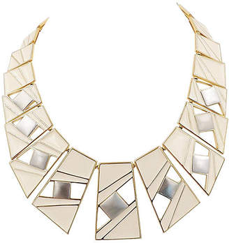 One Kings Lane Vintage Trifari Enamel Modernist Necklace - 1987 - Carrie's Couture