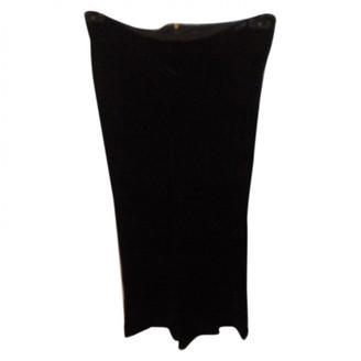 French Connection Black Velvet Skirt for Women