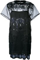Sacai tribal lace organza dress - women - Cotton/Polyester - 3