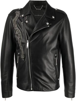 John Richmond Embellished Biker Jacket