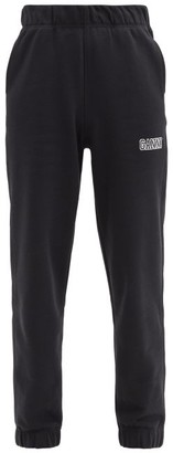 Ganni Software Recycled Cotton-blend Track Pants - Black
