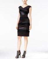 Jax Faux-Suede-Trim Sheath Dress