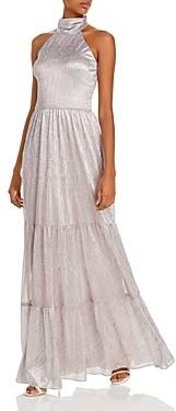 Aqua Tiered Metallic Gown - 100% Exclusive