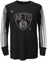 adidas Boys 8-20 Brooklyn Nets Prestige climalite Tee