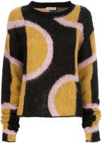 Aalto oversized geometric print jumper - women - Polyamide/Mohair/Wool - 36