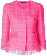 Tagliatore cropped tweed jacket