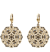 La Vie Filigree Medallion Earrings