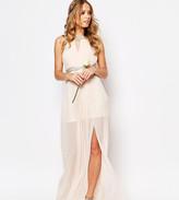 TFNC WEDDING Embellished Pleated Maxi Dress