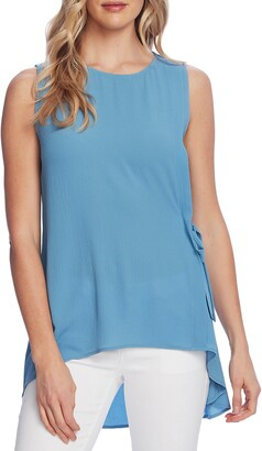 Vince Camuto Side Tie Sleeveless High Low Blouse