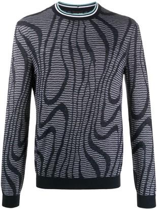Giorgio Armani Abstract-Pattern Knit Jumper