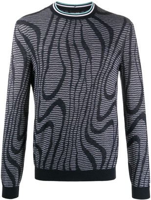 Giorgio Armani abstract-pattern knit jumper
