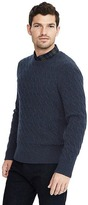 Banana Republic Wool Cashmere Cable Crew