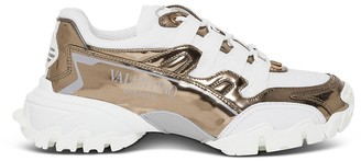 Valentino Metallic Sneakers With Logo