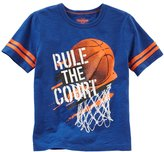 "Osh Kosh Boys 4-8 Rule The Court"" Basketball Graphic Tee"