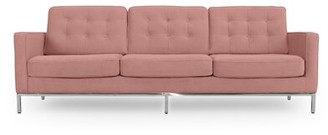 "Agostini Mid-Century Leather 89"" Square Arms Sofa Corrigan Studio Upholstery Color: Cosmo"