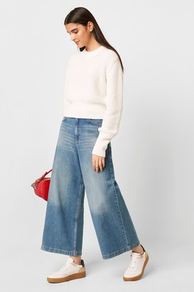 French Connenction Reem Denim High Waisted Culottes