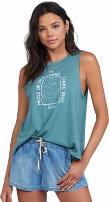 Roxy Womens Stay Palmy Muscle Tank Top T Shirt