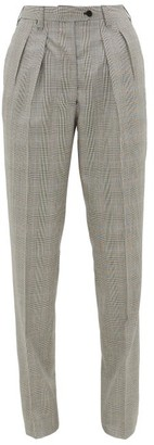 Giuliva Heritage Collection The Husband Houndstooth Virgin-wool Trousers - Black White