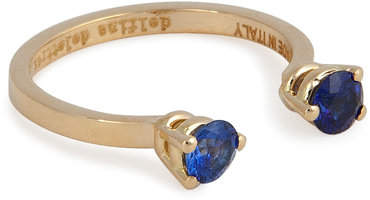 Delfina Delettrez 18kt Yellow Gold Ring with Sapphires