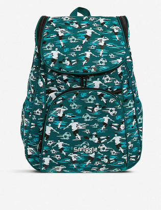 Smiggle Good Vibes Access graphic-print woven backpack