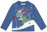 Jo-Jo JoJo Maman Bebe Skiing Dino Top (Toddler/Kid) - Blue-4-5 Years