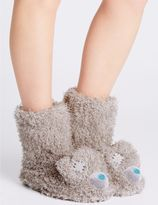 Marks and Spencer Tatty Teddy Fur Slipper Boots