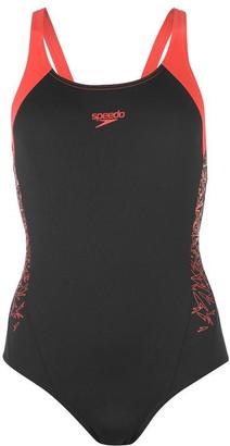Speedo Boom Splice Muscleback Swimsuit Ladies