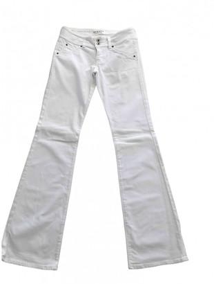 Hudson White Cotton - elasthane Jeans for Women