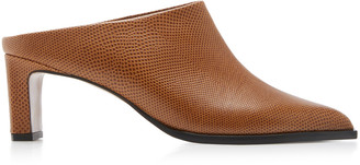 ATP ATELIER Fave Snake-Effect Leather Mules
