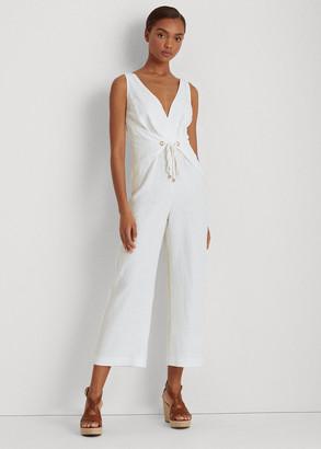 Ralph Lauren Wrap-Style Linen Jumpsuit